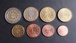 Portugál euro sor 2002 aUNC