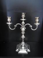 Ezüst 3ágú Gyertya tartó  800 g