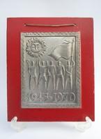 Alumínium plakett - Szocialista relikvia