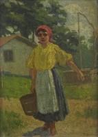 0O478 Halász jelzéssel : Vízhordó lány