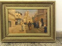 Festmény Arab utcakép