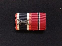 II.vh Német szalag sáv KVK - ostmedál ,mini ,kitűző