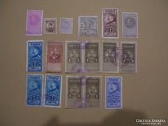 Románia illeték bélyegek, bélyegezve.