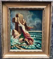 Allegórikus, vallási témájú olajfestmény Lotz szignóval