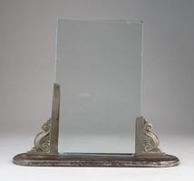 0O530 Antik asztali fém fényképtartó