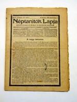 NÉPTANÍTÓK LAPJA1916december7RÉGI ÚJSÁG897