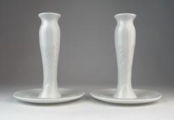 0O553 Régi porcelán gyertyatartó pár 14 cm