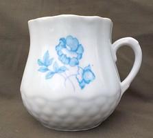 Régi kék rózsás pocakos csupor