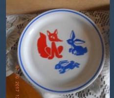 Zsolnay vukkos tányér 1 sz .  készlet