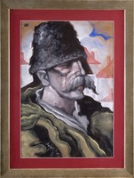 SCHEIBER HUGÓ - Férfi portré - Eredeti festmény - Örök garancia