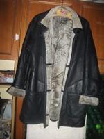 Nagyon finom vajpuha nappás báránybőr kabát vékony eredeti irha bélssel molett 48 50 125 mell