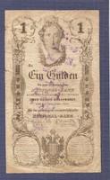 1 Gulden 1848 WERTLOS Bélyegzéssel