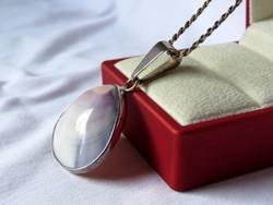AKCIÓ! - Csodás ezüst medál kagylóval, ezüst lánccal