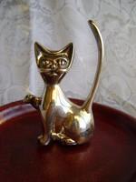 Art deco stílusú cica Silverplate anyagból igen nehéz