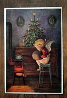 Karácsonyi képeslap angyalkával  1921