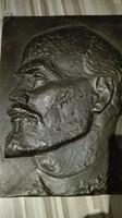 Czirján Lenint ábrázoló bronz plakett  30 x 40cm