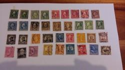 USA bélyegek Fejek sor.