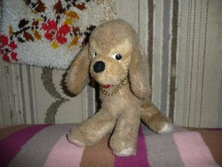 Retro plüss figura, Retro plüss kutya, Retro játék, 33 cm 70-s 80-s évek