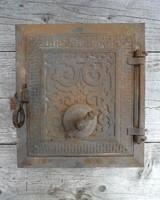 Antik cserépkályha ajtó