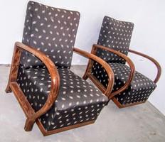 Art Deco fotel párban, kárpit választással