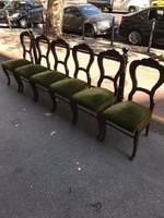 6 db biedermeier szék