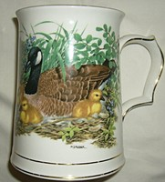 Angol porcelán kupa korsó