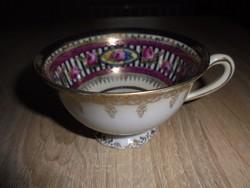 Altwien porcelán jelenetes antik kávés csésze