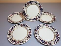 5 db Zsolnay bambuszmintás süteményes tányér kihagyhatatlan áron!