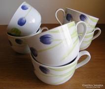 Hat db  csésze, jelzett 6.5 x 8.5 cm