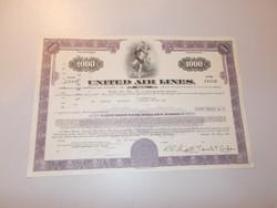 United Air Lines, 1.000 Dollar 1973 részvény