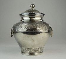 0O870 Régi jelzett ezüstözött vietnámi teafűtartó