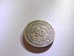 50 Reichspfennig 1924-A Weimari Köztársaság 50 Reichspfennig