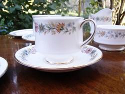 Elegáns Royal Albert Belinda 8 darabos reggeliző vagy teás porcelán romantikus készlet, kétszemélyes
