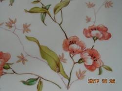 Óriás ,négyszögletes,máz felett kézzel festett szélrózsás pillangós  tál-28,5x28,5 cm