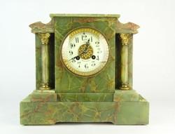 0P127 Antik Marti & Cie zöld márvány kandalló óra
