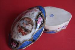 Antik Altwien porcelán bonbonier