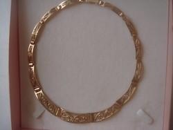 Gyönyörű egyedi arany nyakék, nyaklánc 42 g.ötvös által készített