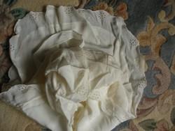 Antik valódi selyem pólyahuzat