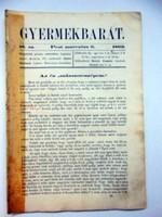 Gyermekbarát1862március6RÉGI ÚJSÁG521