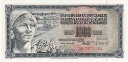 1000 Dinár - 1981 - UNC
