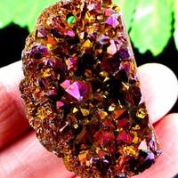 Brazil titánium drúza medál