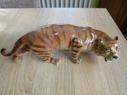 Nagy méretű porcelán tigris figura
