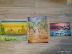 Tavaszi Noémi festmények 3db