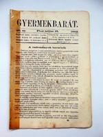 Gyermekbarát1862május15RÉGI ÚJSÁG518