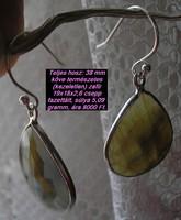 925 ezüst fülbevaló barnás indiai zafírral