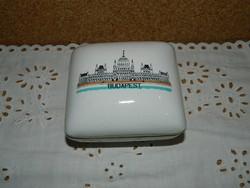 Retró Budapest porcelán bonbonier.