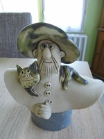 Jelzett Vertel Andrea kerámia szobor