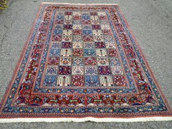 Moud festményi szépségű selyem kontúros,állat és kazetta mintás kézi csomózású szőnyeg 258x148