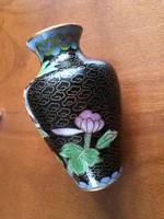 Rekeszzománc váza lótuszvirág mintával