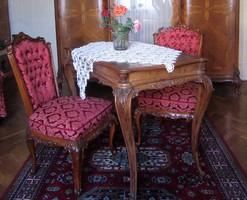 Asztal + 2 szék + fotel  1930-ból